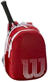 Wilson Junior Backpack For 2 Rackets Red/White