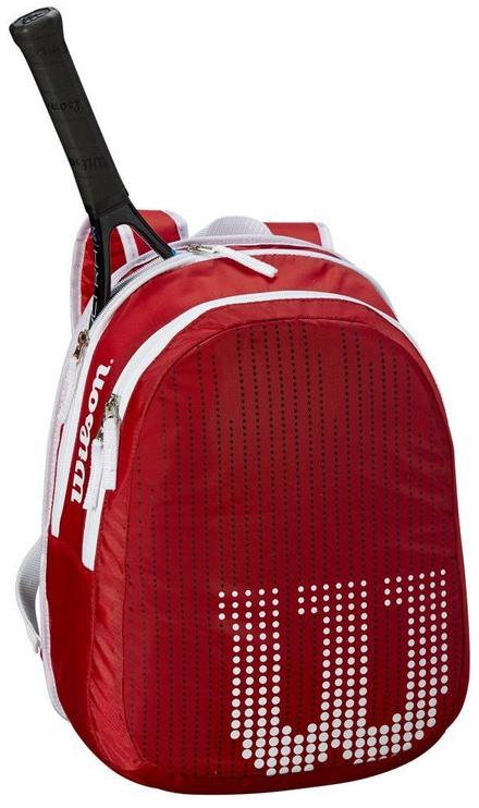 Wilson Junior Backpack For 2 Rackets Red/White