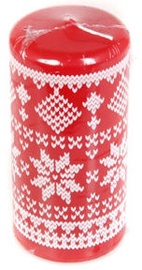 Verners Pillar Candle 7x15cm Red