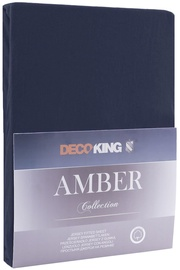 DecoKing Amber Bedsheet 140-160x200 Navy Blue