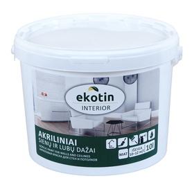 Dispersiniai dažai Ekotin Interior, balti, 10 l