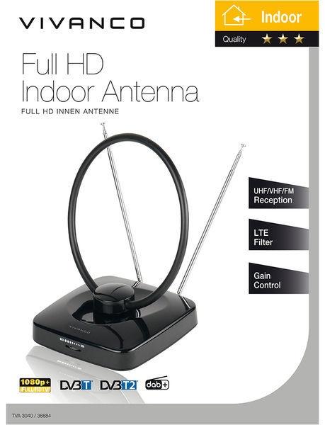 Vivanco Full HD Indoor Antenna TVA3040