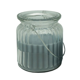 SN Diana Candle In Glass Jar With Handle 7.8x9cm Grey