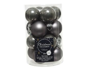 Елочная игрушка Decoris 010337, серый, 35 мм, 16 шт.