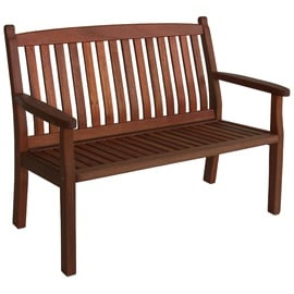 Home4you Windsor 2 Seat Garden Bench Brown