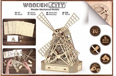 Wooden City Puzzle Mill 219pcs