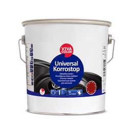 Gruntas Vivacolor Universal Korrostop, raudonas, 1 L