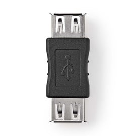 Adapteris USB 2.0 A-A, juodas