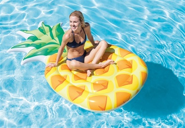 Pripučiamas plaustas Intex Pineapple, 216 x 124 cm