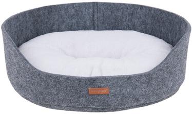 Лежанка Amiplay Hygge Dog Oval Bedding 2in1 Gray M 54x46x19cm