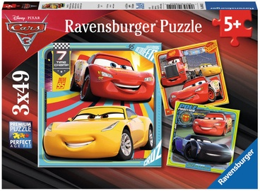 Пазл Ravensburger Cars 3 8015, 3x49 шт.