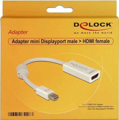 Delock Adapter DisplayPort-mini to HDMI White 0.18m