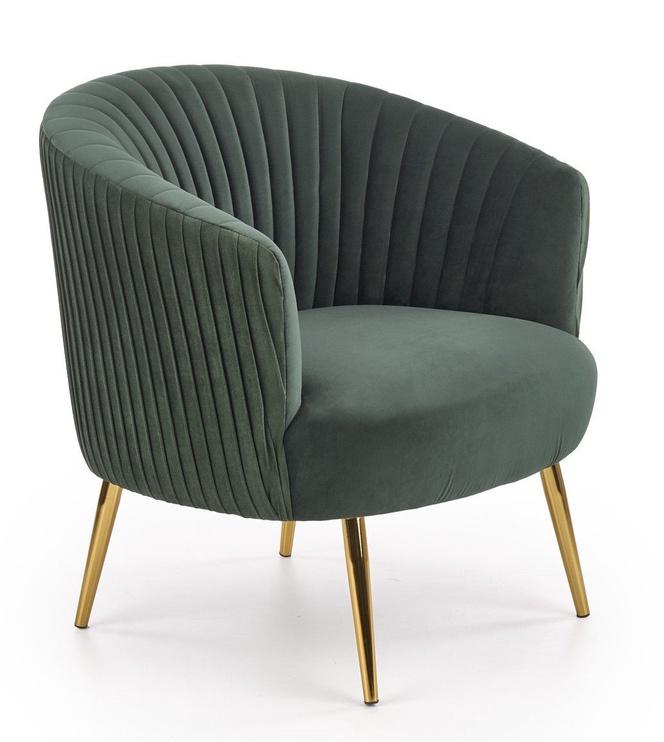 Fotelis Halmar Crown Dark Green, 78x72x80 cm