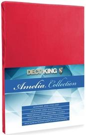 Palags DecoKing Amelia Red, 160x200 cm, ar gumiju