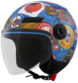 Shiro Helmet SH-62 Travelstamps Multicolor M
