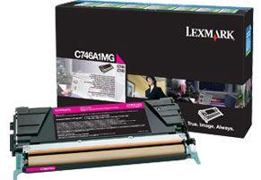 Lazerinio spausdintuvo kasetė Lexmark C746A1MG MAGENTA