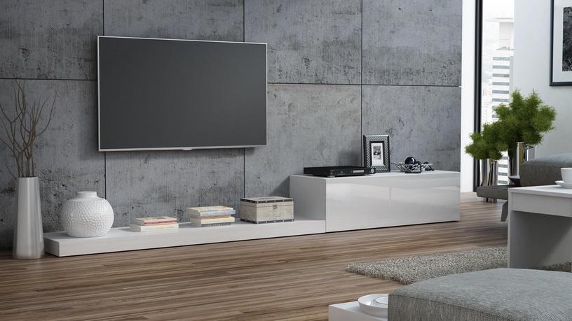 TV galds Cama Meble Life 300, balta, 3000x420x350 mm