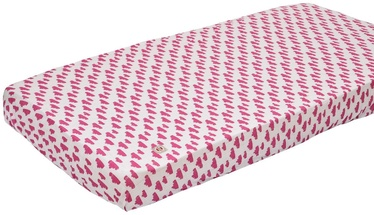 Lodger Slumber Sheet With Rubber Rosa