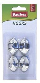 Sauber Hooks 2.3x4cm Silver 4pcs
