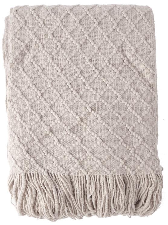 Home4you Felice Blanket 130x170cm Light Gray