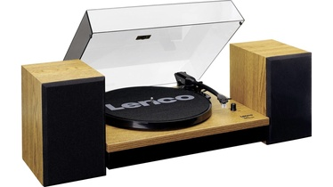 Lenco LS-300 Turntable With Separate Speakers Wood