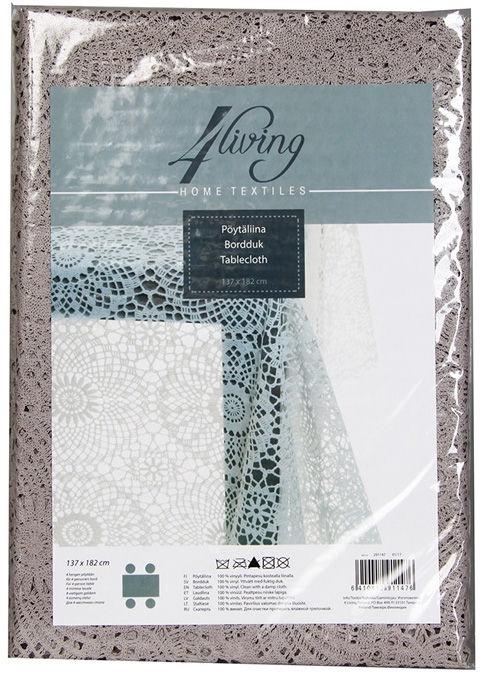 4Living Tablecloth 137x182cm Grey