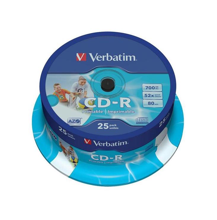 Kompaktiniai diskai CD-R Verbatim, 700 MB, 25 vnt.
