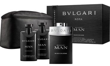 Bvlgari Man In Black 100ml EDT+ 75ml Shower Gel + 75ml Aftershave Balm + Bag