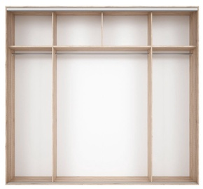 Black Red White Wardrobe Frame Nadir 260 Light San Remo Oak