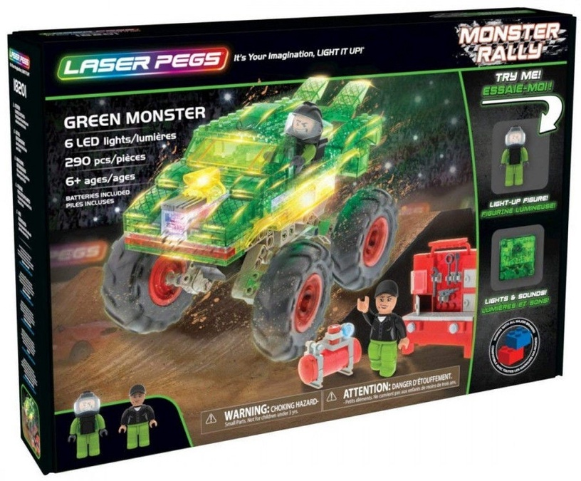 Laser Pegs Green Monster 18201