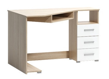 WIPMEB Tatris 17 Desk Right Sided Sonoma Oak/White