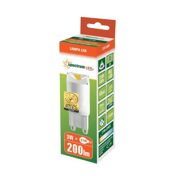 SPULDZE LED T5 3W G9 830 200LM 17KH (SPECTRUM)