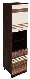 DaVita Rio 16.75.1 Kitchen Cabinet Wenge Oak/Pearl/Brown