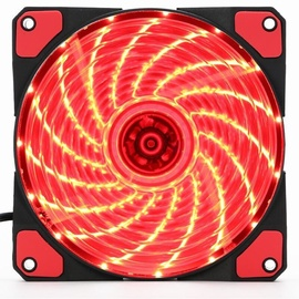 Gembird PC Case Fan With 15 LED Red