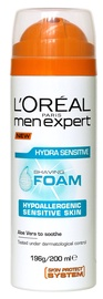 Skūšanās putas L´Oreal Paris Men Expert Hydra Sensitive, 200 ml