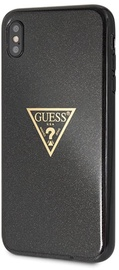Guess Glitter Triangle Back Case For Apple iPhone XS Max Black