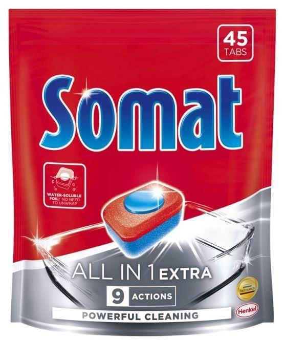 Капсулы для посудомоечной машины Somat All in 1 Extra, 45 шт.