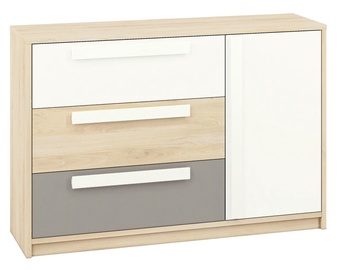 ML Meble Drop 08 Chest Of Drawers Beech/White/Dark Gray