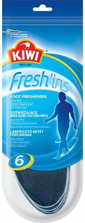 Kiwi Fresh'ins Men Insoles 6 Pairs 42-43