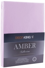 Palags DecoKing Amber, violeta, 180x200 cm, ar gumiju
