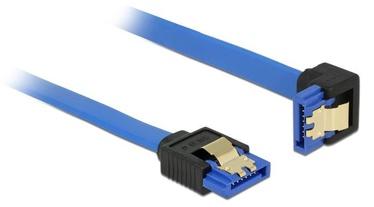 Delock Cable Angled SATA / SATA Blue 1m