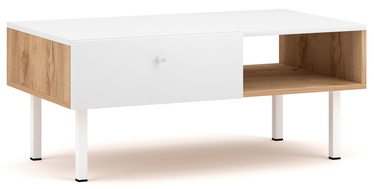 Kafijas galdiņš Vivaldi Meble Tulia, balta/ozola, 900x516x380 mm