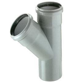 Kanalizācijas caurules trejgabals Bees D110mm, 45°, PP