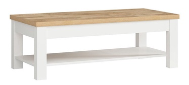 Kohvilaud Black Red White Dreviso White/Westminster Oak, 1300x600x450 mm