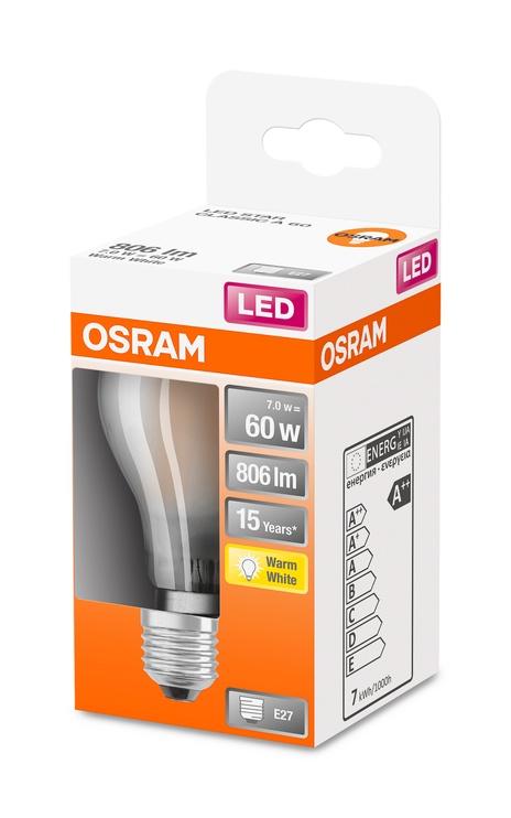 LAMPA LED A60 7W E27 2700K 806LM MAT