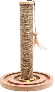 Когтеточка для кота Karlie Flamingo Seaweed+Toy Brigitte Beige