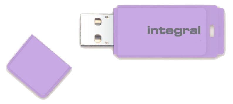 USB atmintinė Integral Pastel Lavander Haze, USB 2.0, 16 GB
