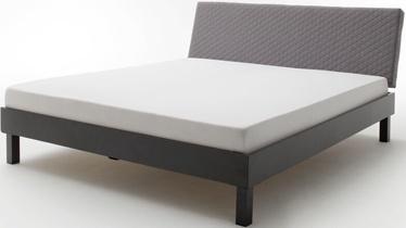 Gulta Meise Möbel Boston-1 Block Metal Foot Light Gray, 200x180 cm