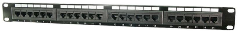 Lülitusseade Logilink CAT 5 Patch Panel 24-Port Unshielded Black