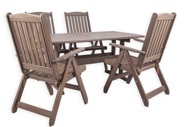 Folkland Timber Garden Set Lolland Brown Nut